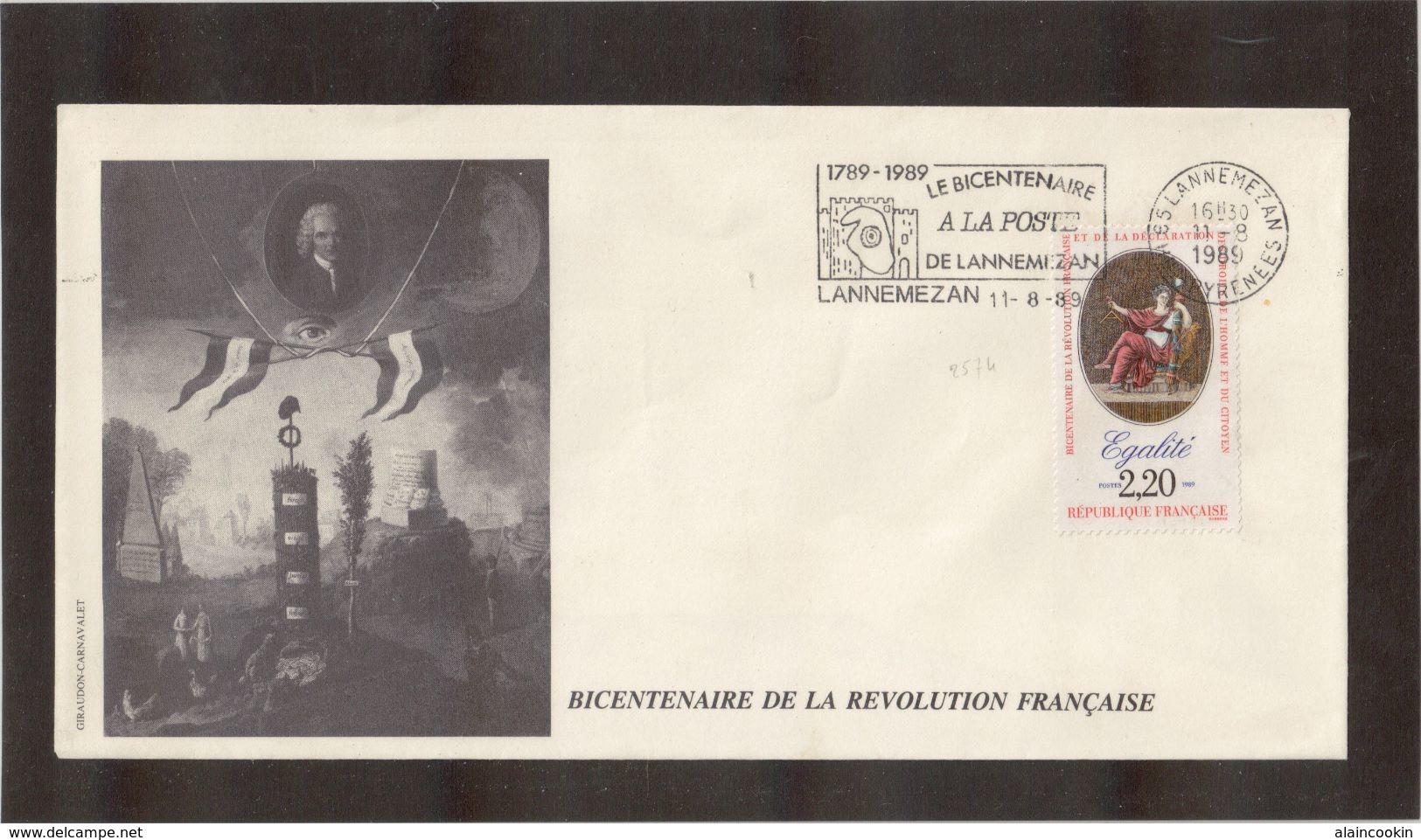 BC - France BICENTENAIRE De La REVOLUTION - 11.08.1989 Sur PO 2574 - LANNEMEZAN. - France