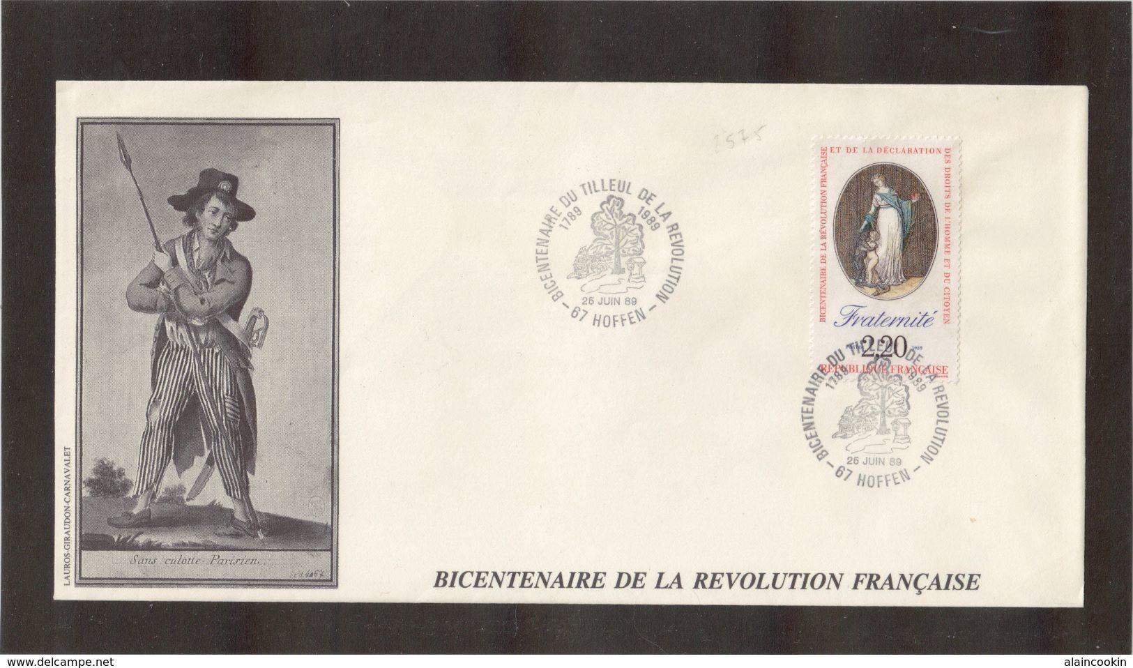 BC - FRANCE -  BICENTENAIRE De La REVOLUTION - 26 Juin1989 Sur PO 2575 - HOFFEN - - France