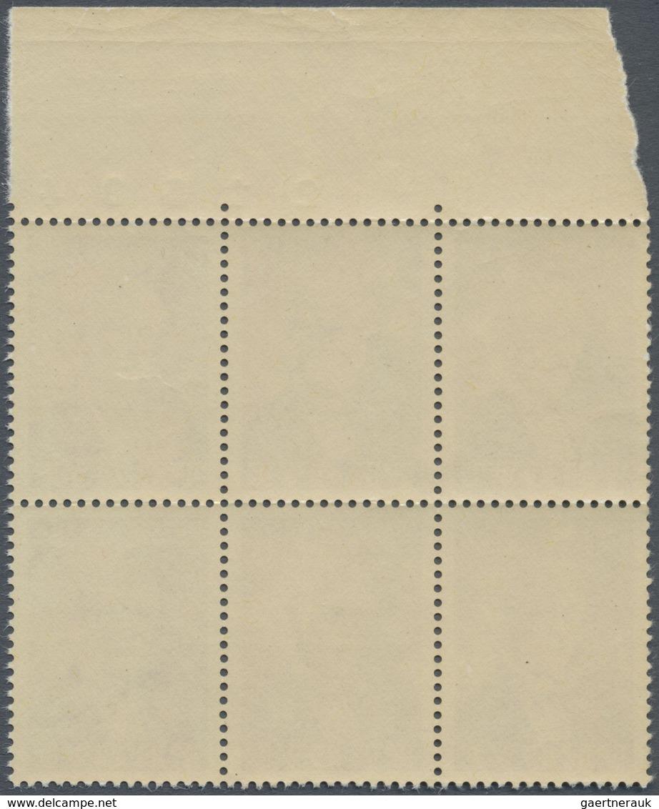 ** Dänemark: 1952, J.C. Jacobsen, Brownish Red, Mnh. Proof, Block Of Six, Printed At Goebel In Darmstad - 1851-63 (Frederik VII)