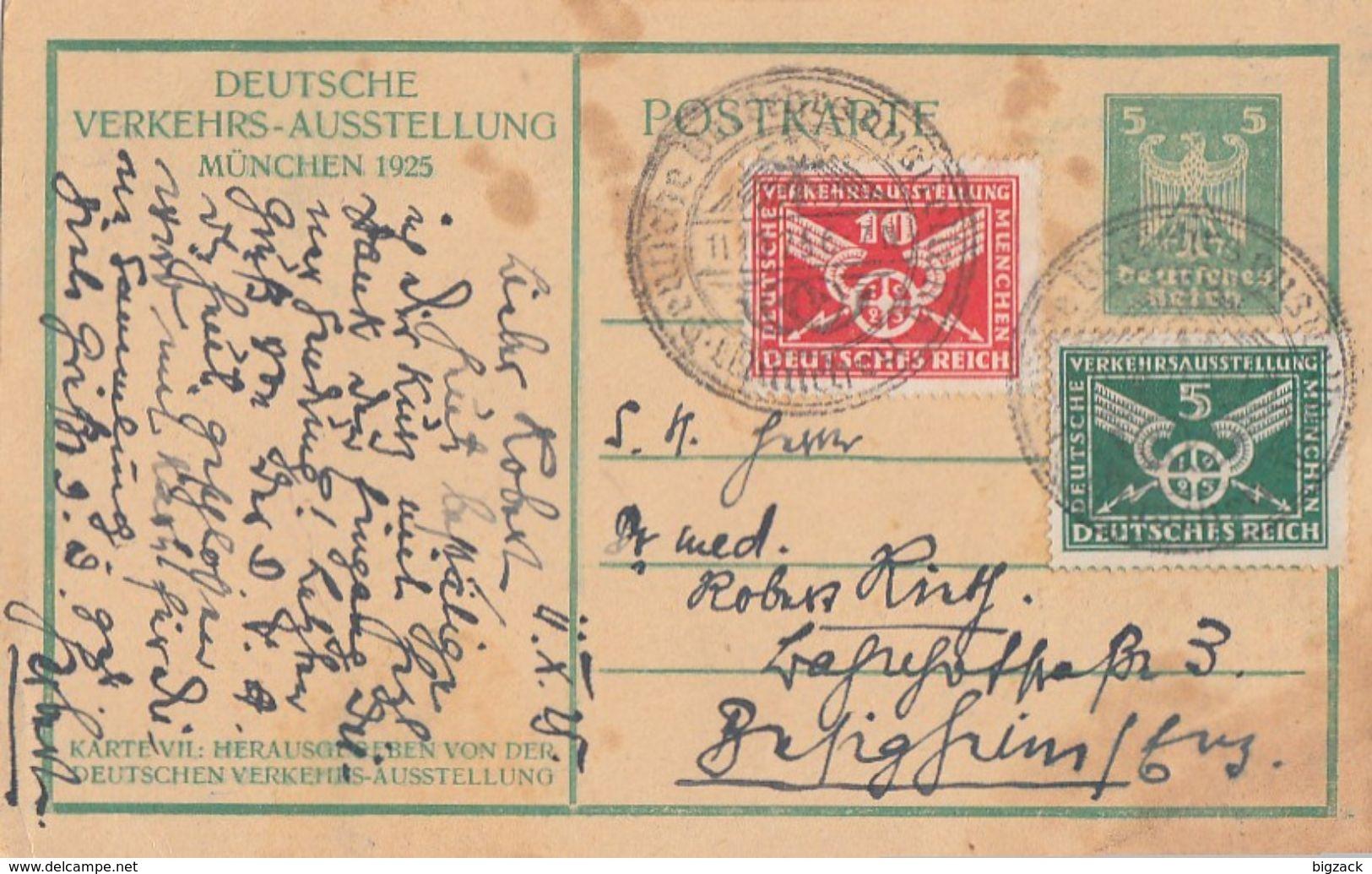 DR Privat-GS Minr.PP81 C5 Zfr.370, 371 SST München 11.10.25 - Deutschland
