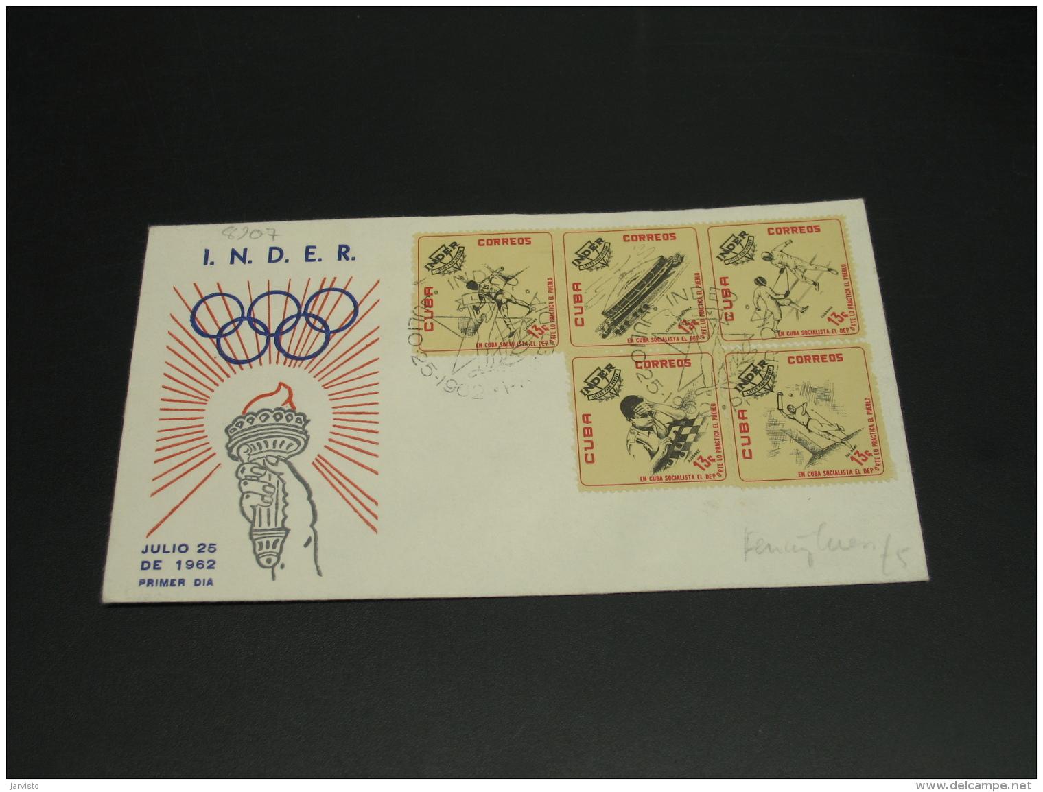 Cuba 1962 Olympic FDC Cover *8907 - Cuba