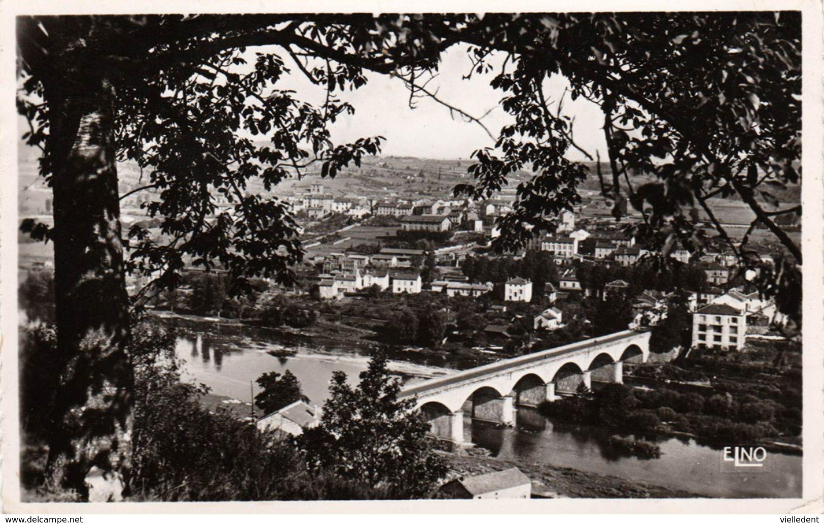RETOURNAC (Haute-Loire) - Alt. 565 M - Paysage Sur Le Pont Et Sur La Ville - Cpsm De 1955 En TBE - 2 Scans - Retournac