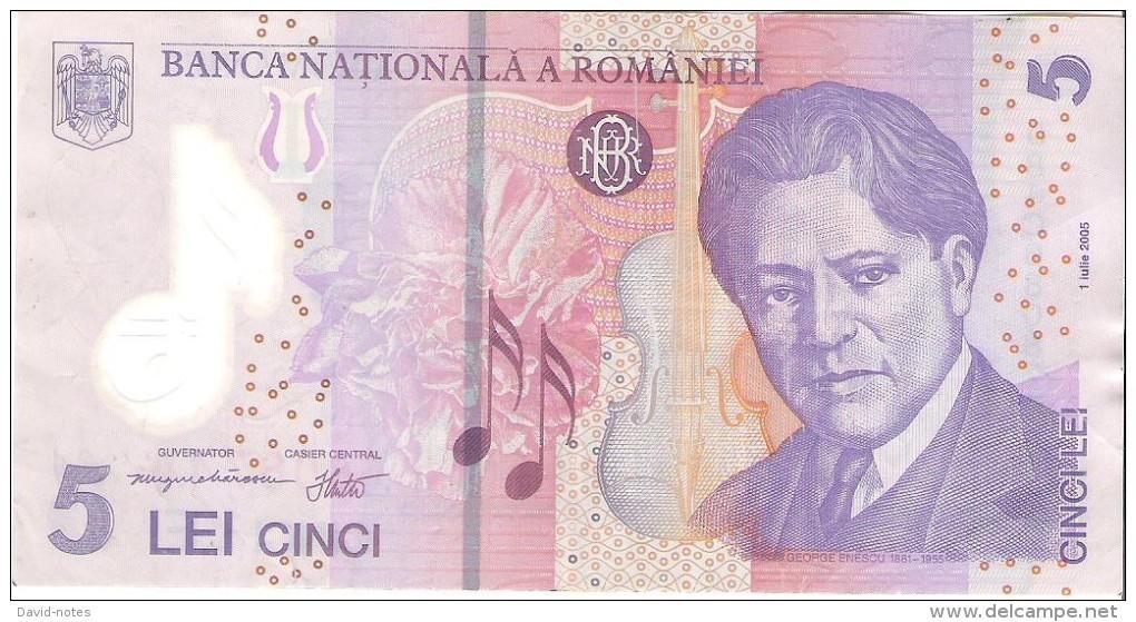 Romania - Pick 118 - 5 Lei 2005 - F - Romania