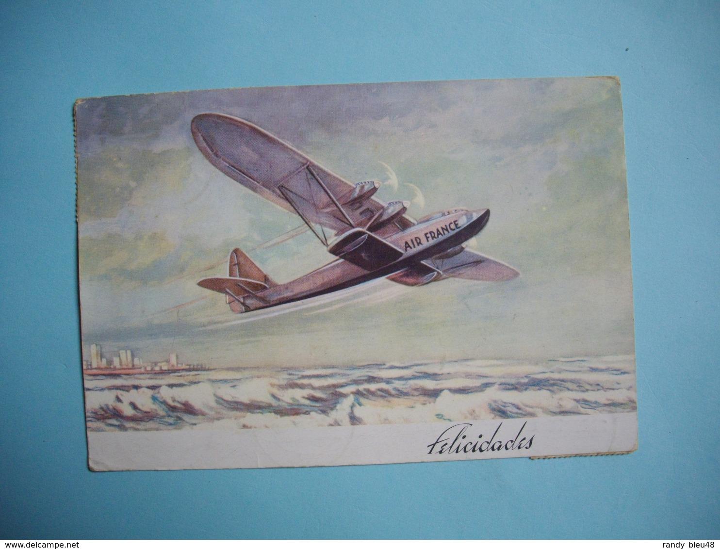Avion AIR FRANCE  - POTEZ 62  - Ligne SANTIAGO  ( Chili )  -  PARIS  - Décembre  1936  - - Poste Aérienne