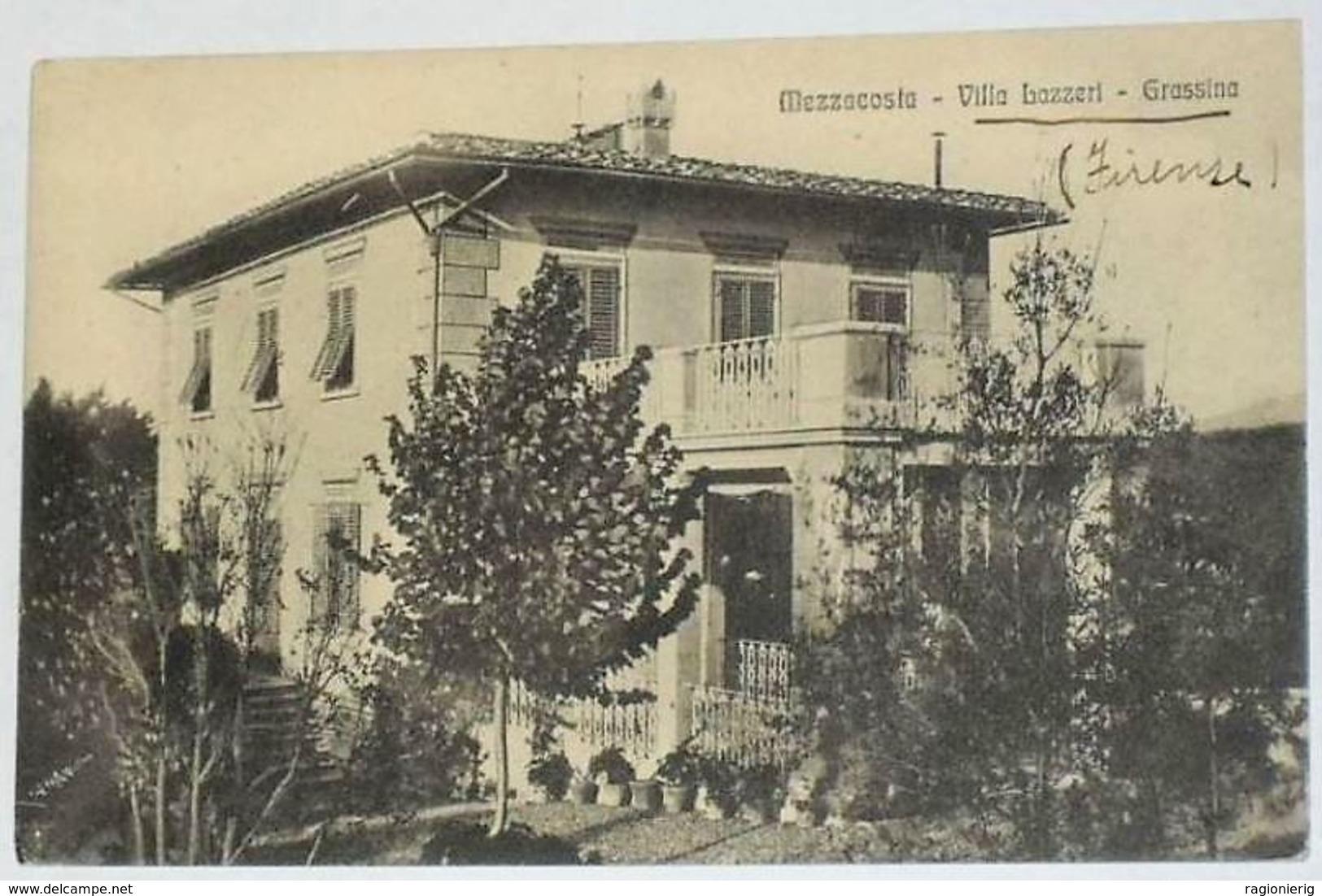 FIRENZE - Mezzacosta - Bagno A Ripoli - Frazione Grassina - Villa Lazzeri - 1916 - Firenze (Florence)