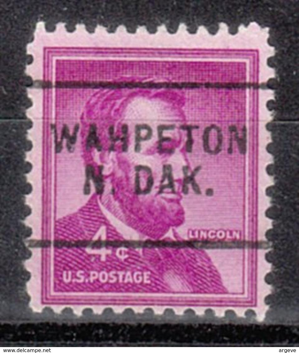 USA Precancel Vorausentwertung Preo, Locals North Dakota, Wahpeton 703 - Vereinigte Staaten