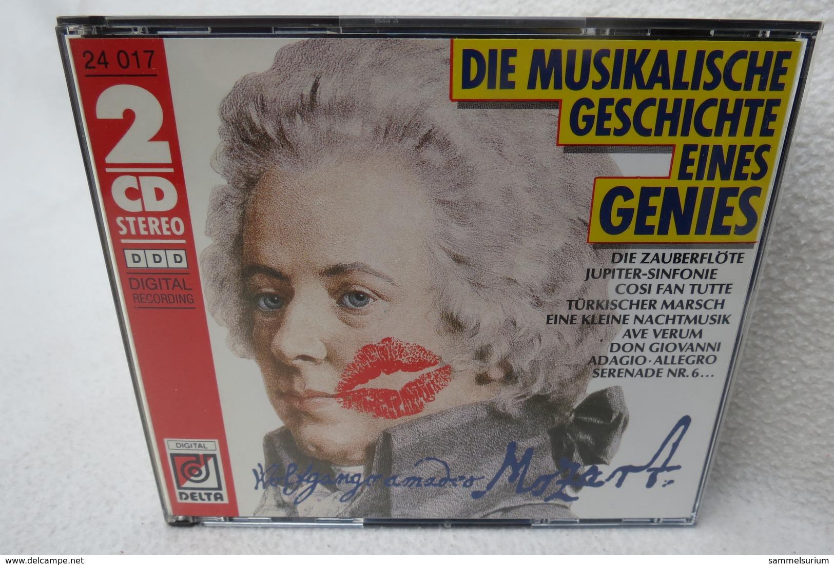 """2 CDs """"Mozart"""" Die Musikalische Geschichte Eines Genies - Klassik"""