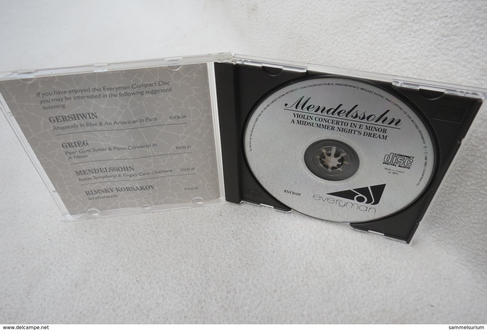 """CD """"Mendelssohn"""" Violin Concerto In E Minor - Klassik"""