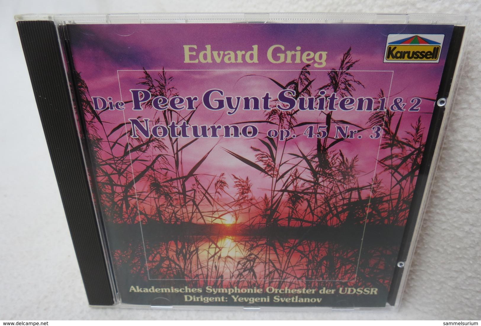 """CD """"Edvard Grieg"""" Die Peer Gynt Siuten 1 & 2, Notturno Op. 45 Nr. 3 - Klassik"""