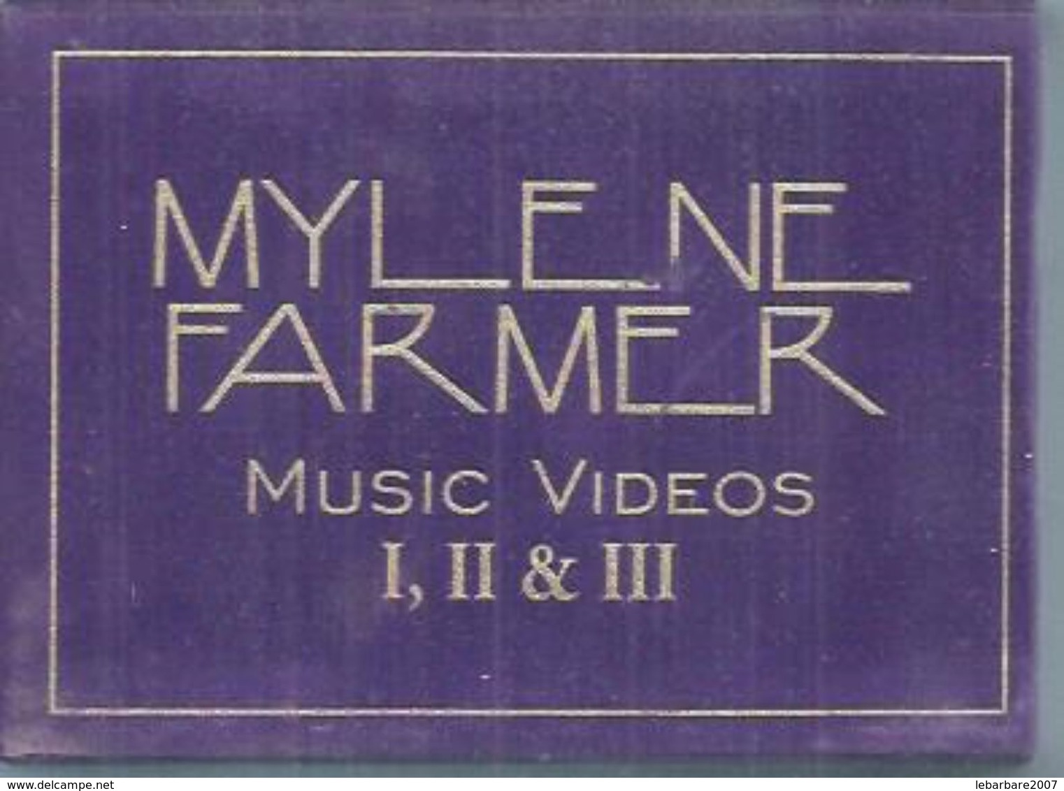 "K7 VIDEO  -  MYLENE FARMER   "" MUSIC VIDEOS I, II & III "" - ( 3 VIDEOS Boitier Cartonné VELOURS VIOLET - LUXE ) - Concert Et Musique"