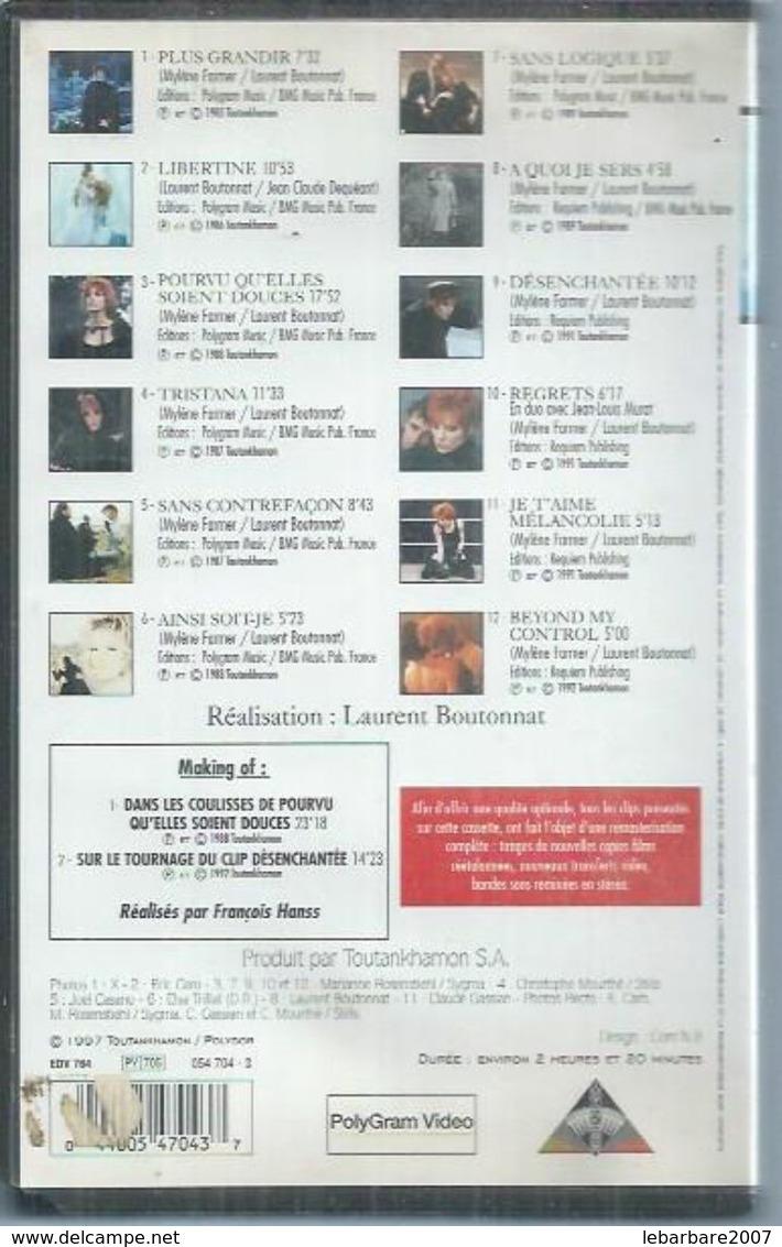 "K7 VIDEO  -  MYLENE FARMER   "" MUSIC VIDEOS "" - Concert Et Musique"