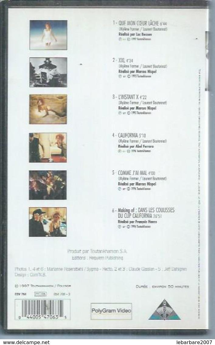 "K7 VIDEO  -  MYLENE FARMER   "" MUSIC VIDEOS II "" - Concert Et Musique"