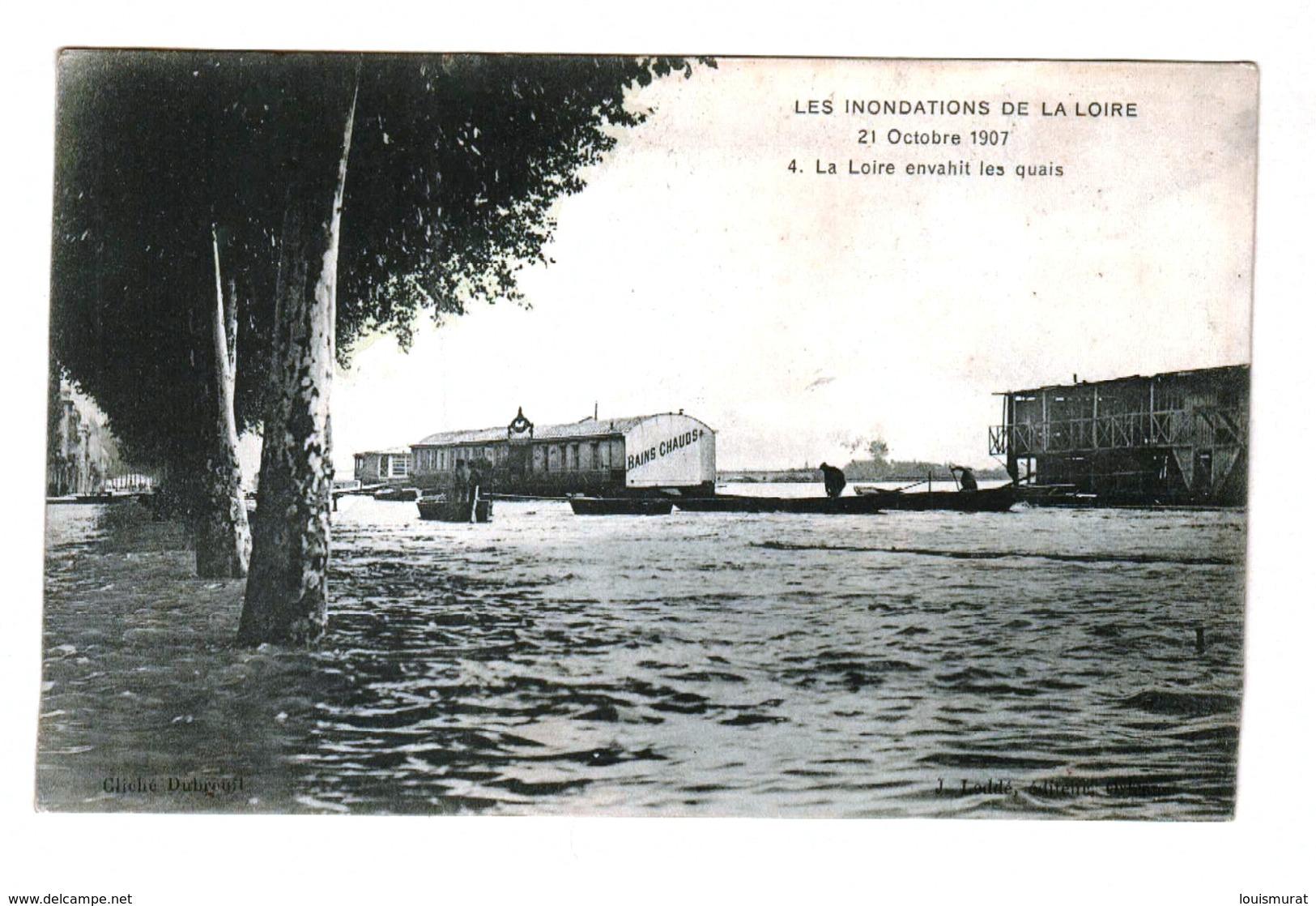 45 - Orléans - Les Inondations De La Loire - 21 Octobre 1907 - La Loire Envahit Les Quais - Non Classés