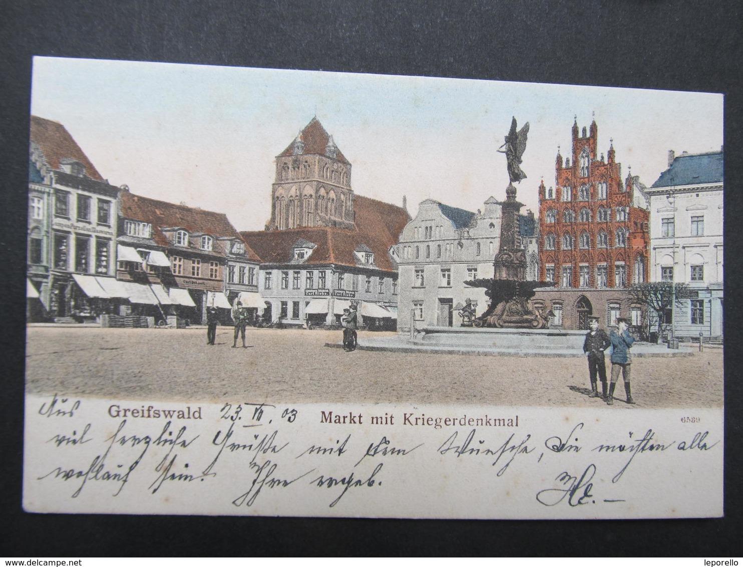 AK GREIFSWALD Ca.1900  ////  D*29889 - Greifswald