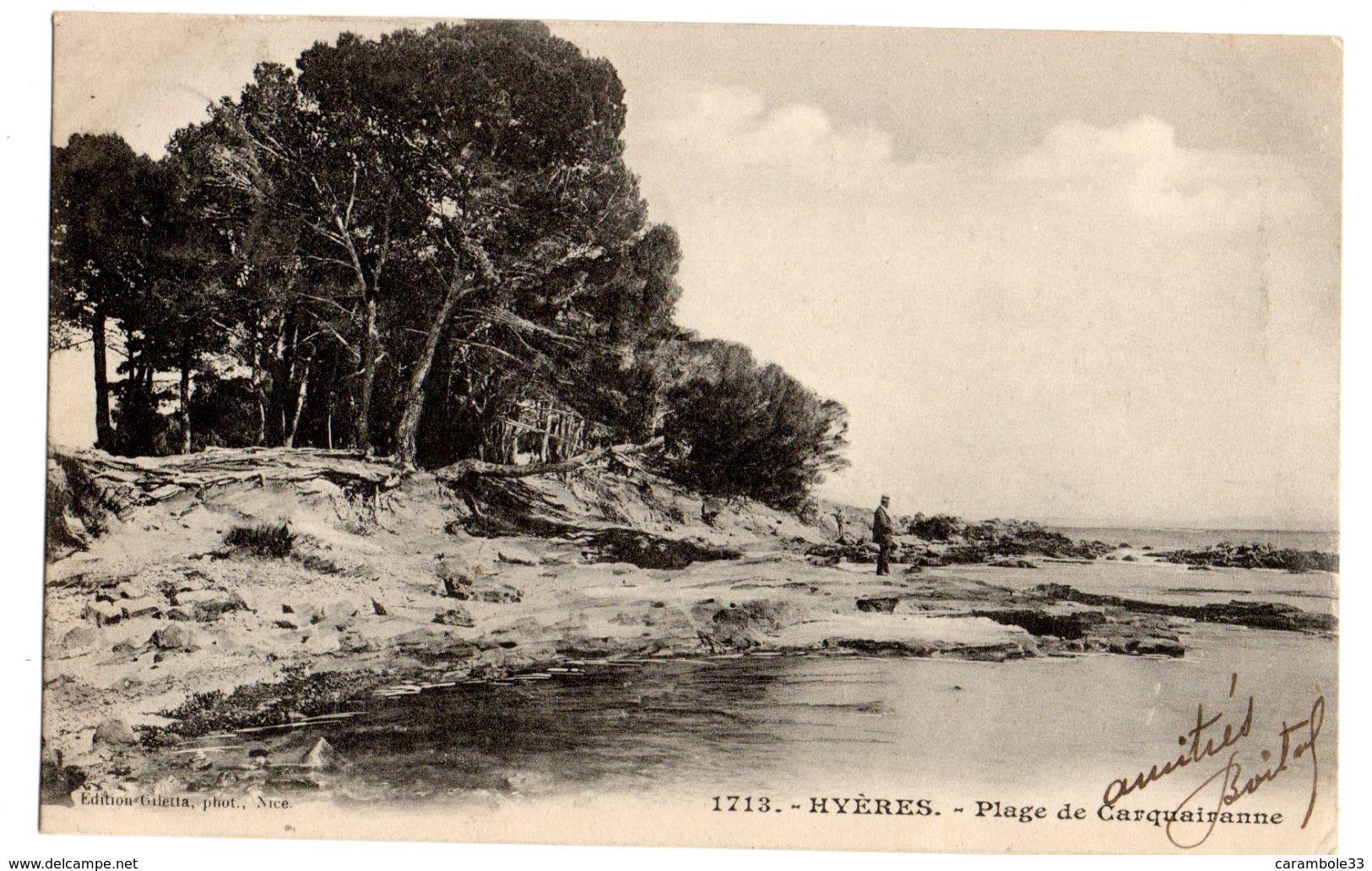 CPA    HYERES Var Plage De Carquairanne  1904   11221 - Hyeres
