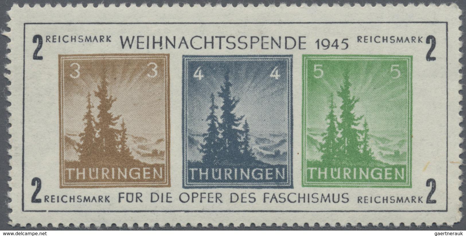 ** Sowjetische Zone - Thüringen: 1945, Antifa-Block Postfrisch, Mi 450.- - Soviet Zone