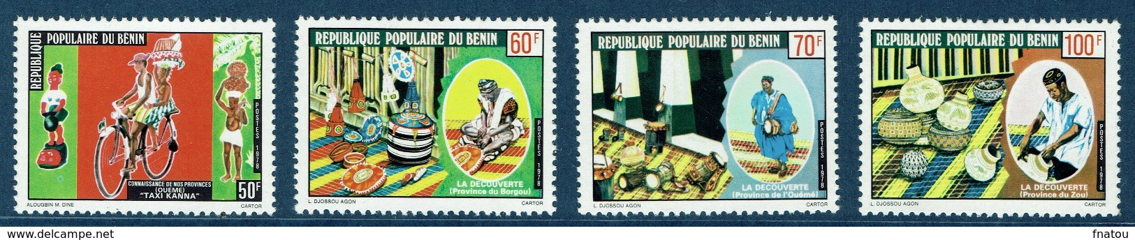 Benin, Beninese Provinces, 1978, MNH VF  Complete Set Of 4 - Benin - Dahomey (1960-...)