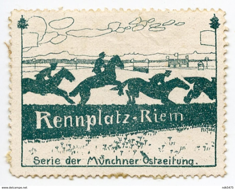 CINDERELLA : GERMANY - RENNPLATZ RIEM, SERIE DER MUNCHENER OSTSEITUNG - Cinderellas