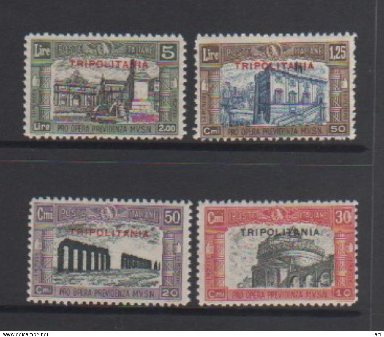 Italy-Colonies And Territories-Tripolitania S 50-53 1929 Militia II Set MNH - Tripolitania