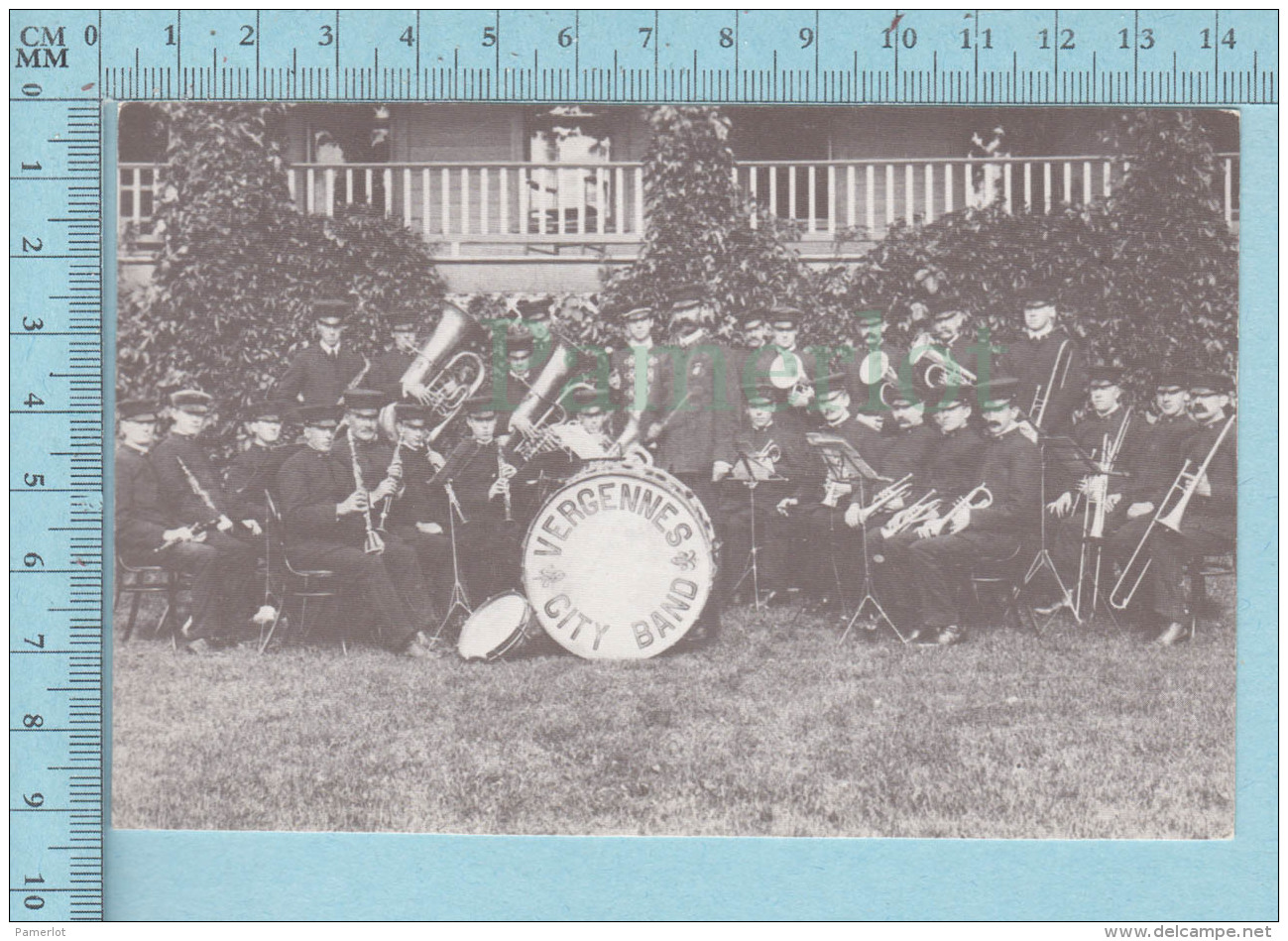 Vergennes Vermont - The Vergennes City Band In The Early 20's, The Smallest City In The USA - Etats-Unis