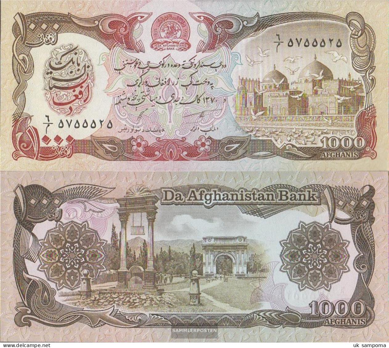 Afghanistan Pick-number: 61c Uncirculated 1991 1.000 Afghanis - Afghanistan
