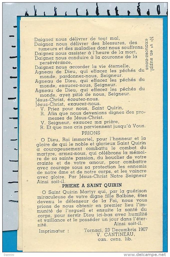 Holycard    St.  Quirin   Loupoigne   Genappe    Litanie - Images Religieuses