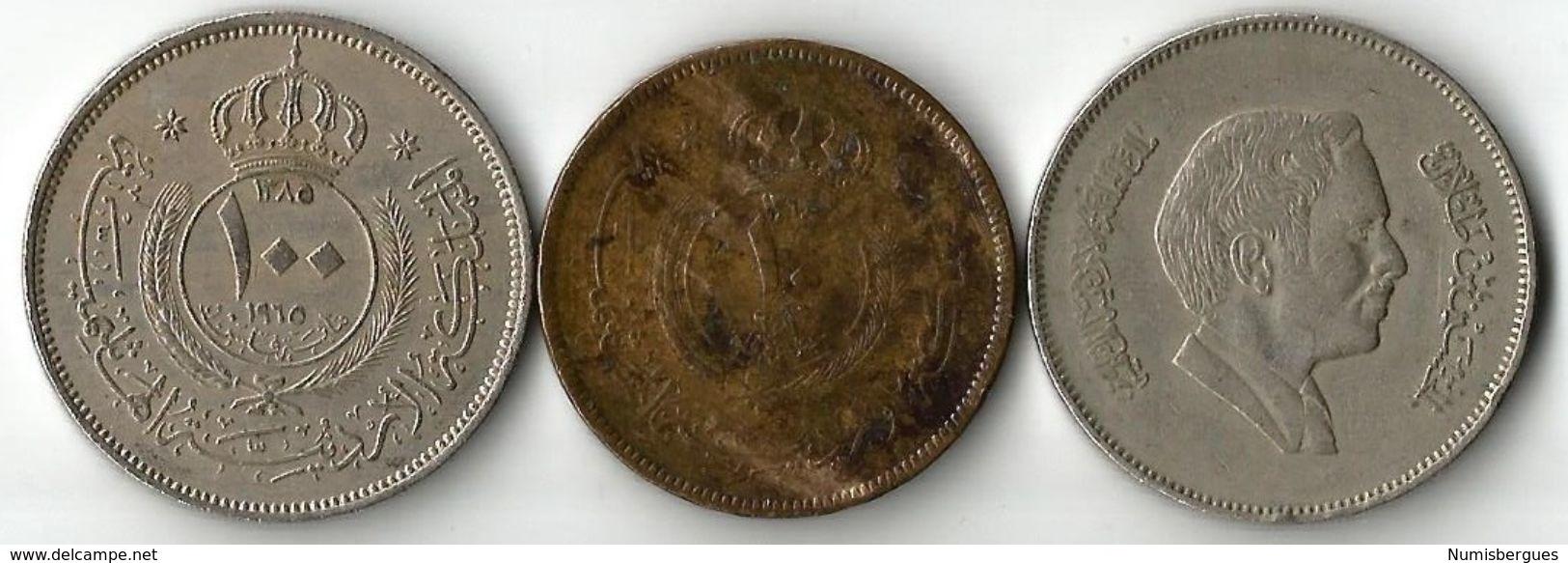 Lot 3 Pièces  De Monnaie  10- Et 100 Fils - Jordanie