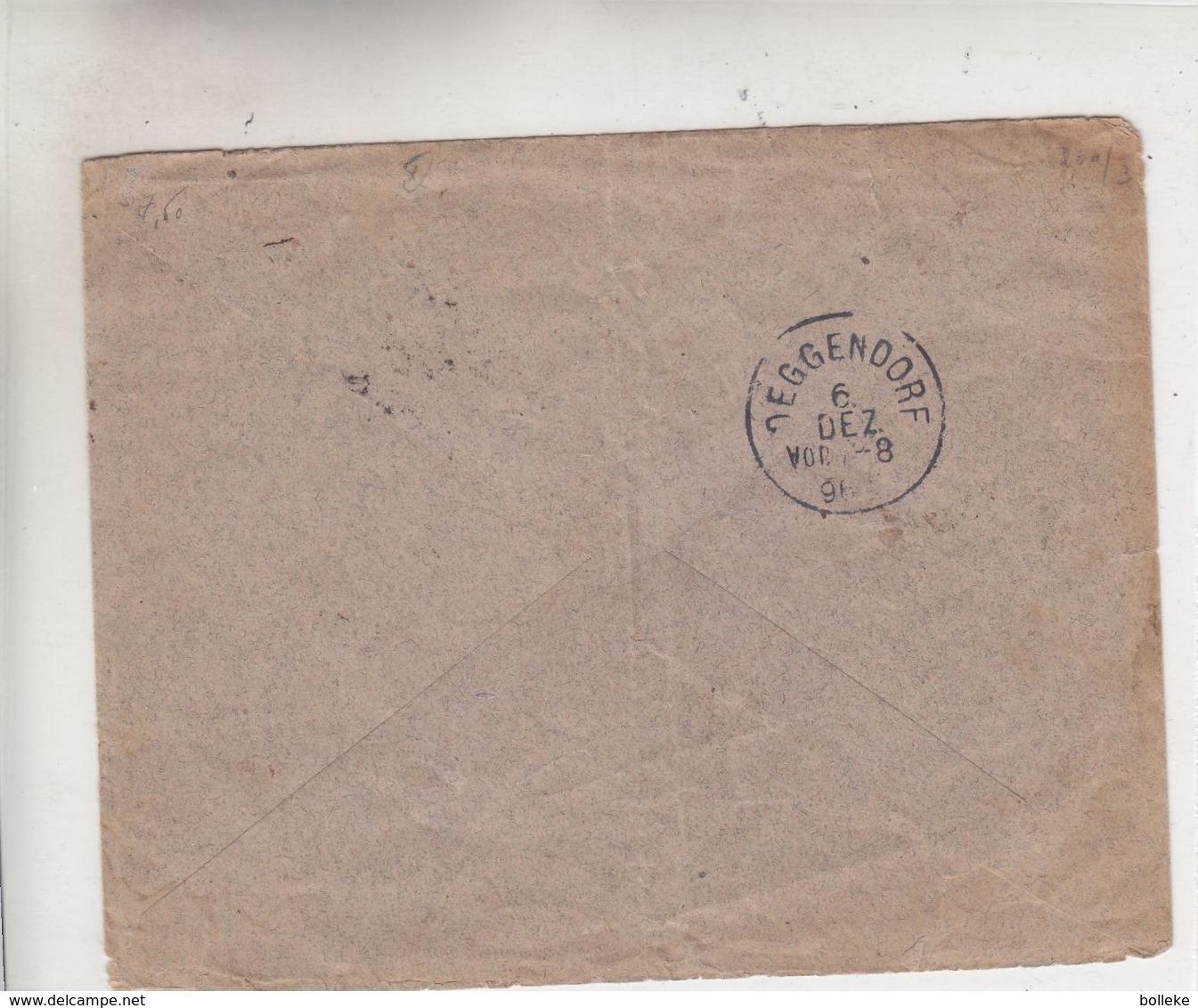 Belgique - Lettre De 1896 ° - Oblit Roulers - Exp Vers Deggendorf - Cachet De Deggendorf - Exposition - 1894-1896 Expositions
