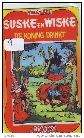 Télécarte SUSKE EN WISKE (9) PHONECARD - De Koning Drinkt - BD