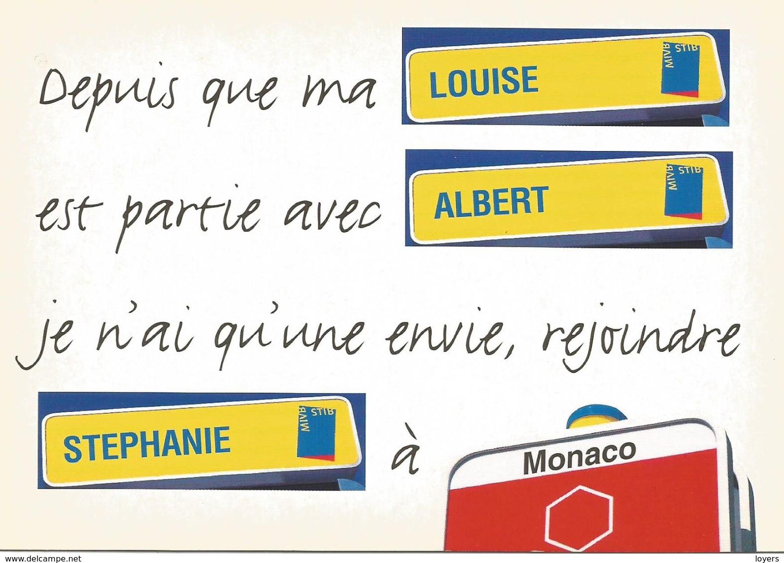 Depuis Que Ma LOUISE Est Partie Avec ALBERT Je Nai Qu'une Envie, Rejoindre STEPHANIE à MONACO .  (SCAN VERSO). - Humour