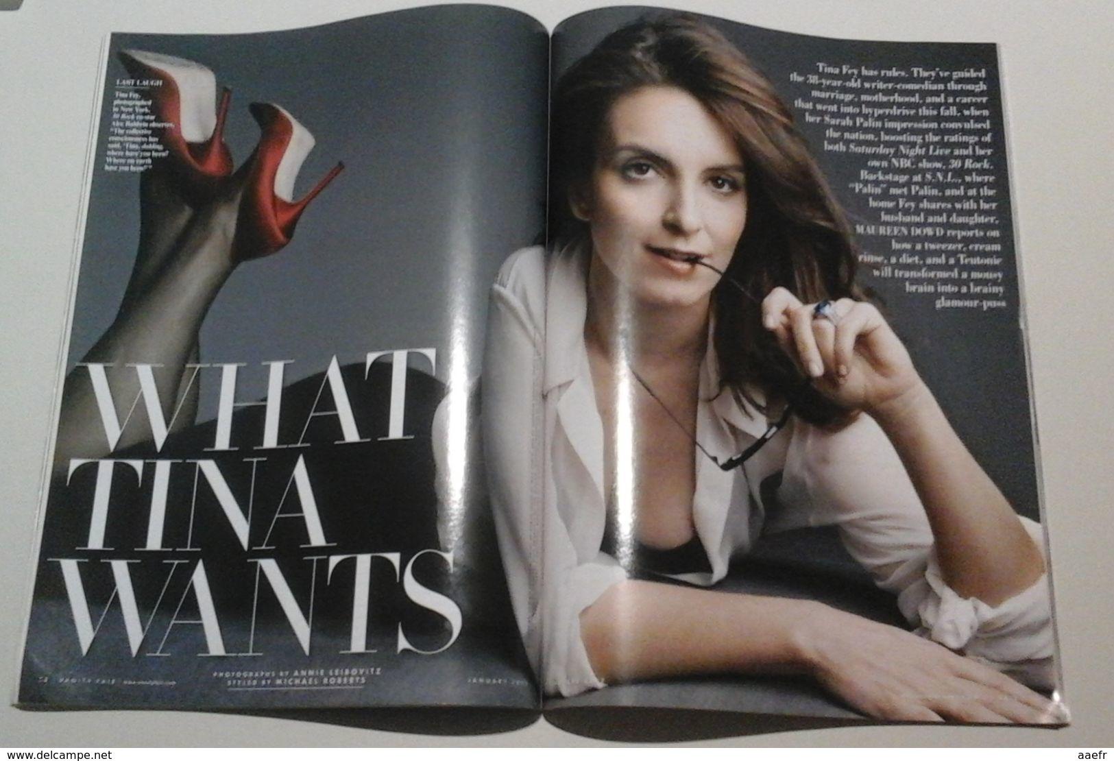 TINA FEY - Vanity-Fair - January 2009 - Livres, BD, Revues