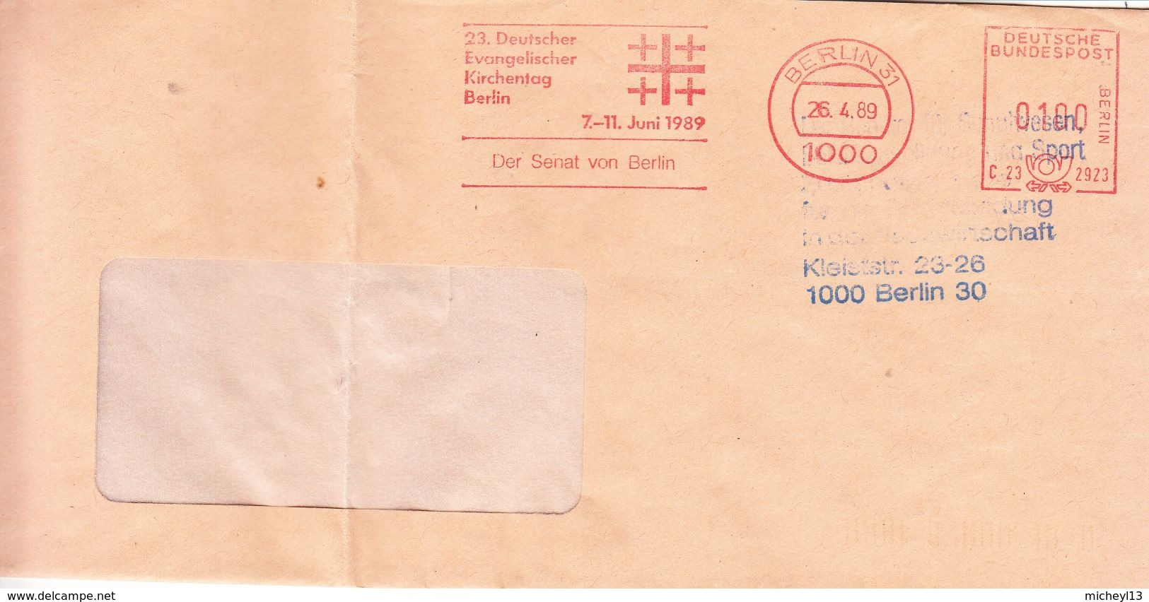 Allemagne-Berlin 31-26/04/1989-23 Deutscher Evangelischer Kirchentag Berlin-7-11 Juni 1989 - Christianity
