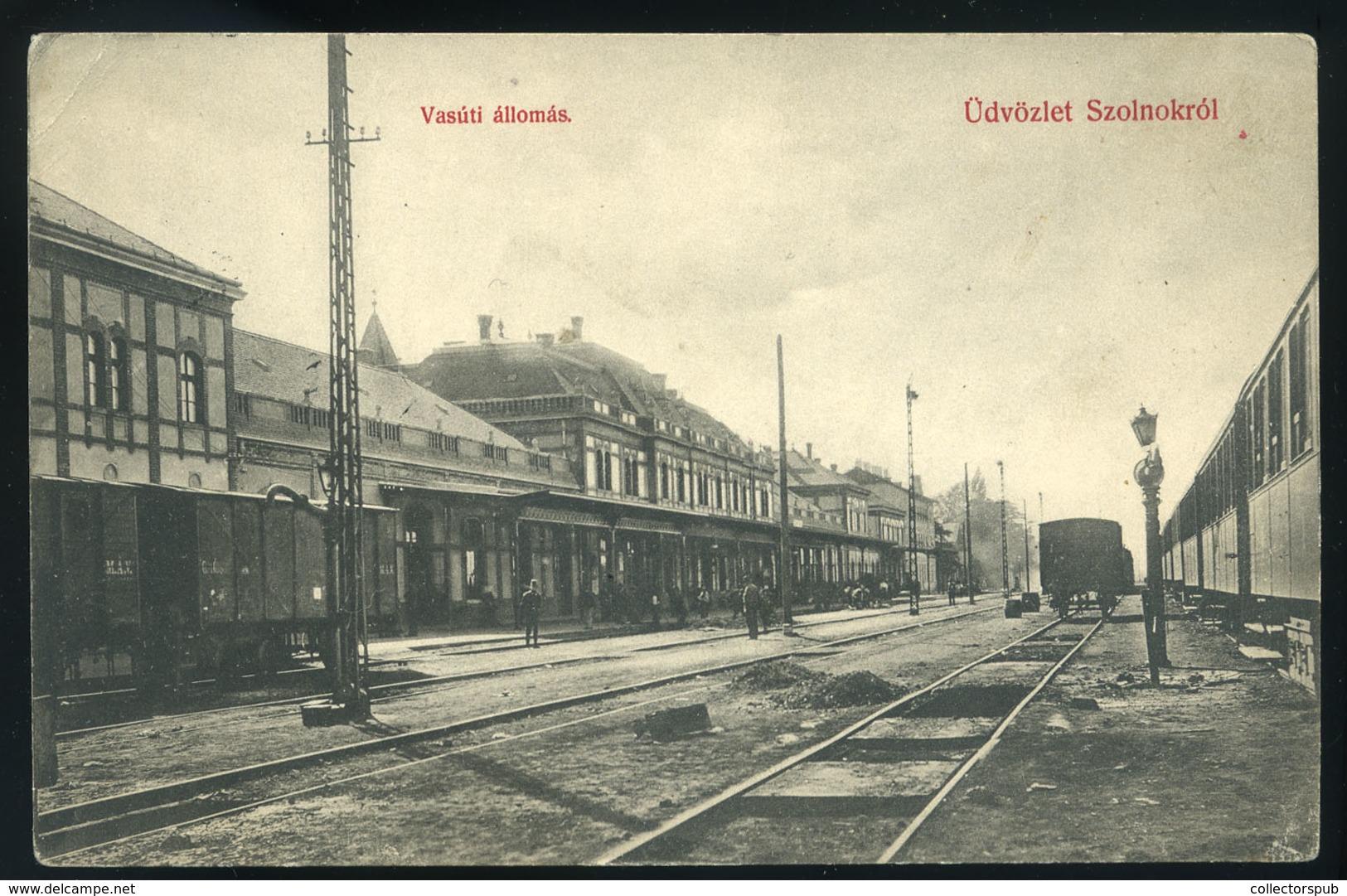 89822 SZOLNOK 1910. Állomás, Régi Képeslap  /  SZOLNOK 1910 Station Vintage Picture Postcard - Hungary