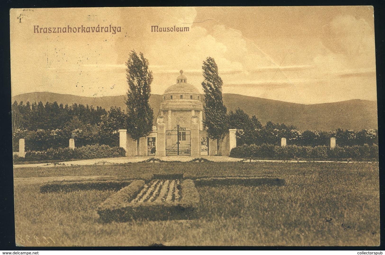 89826 KRASZNAHORKAVÁRALJA 1913 Régi Képeslap  /  KRASZNAHORKAVÁRALJA 1913 Vintage Picture Postcard - Hungary