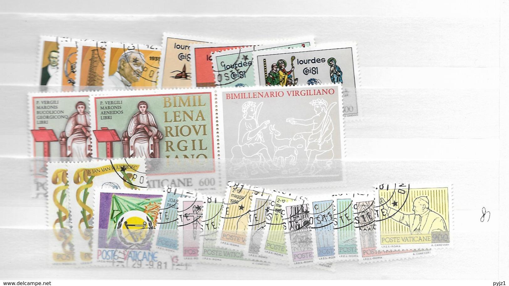 1981 USED Year Complete - Vaticano (Ciudad Del)