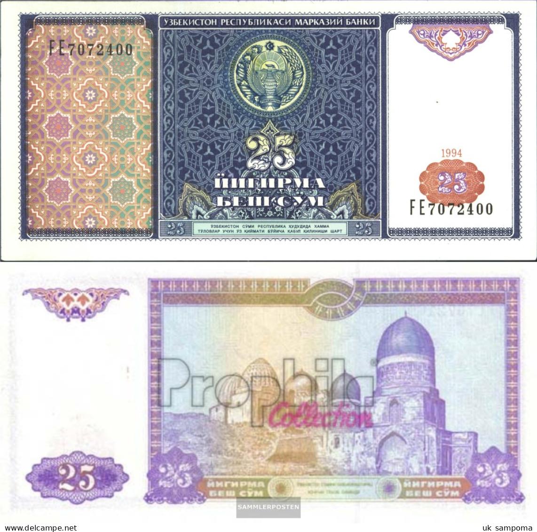 Uzbekistan Pick-number: 77a Uncirculated 1994 25 Sum - Uzbekistan
