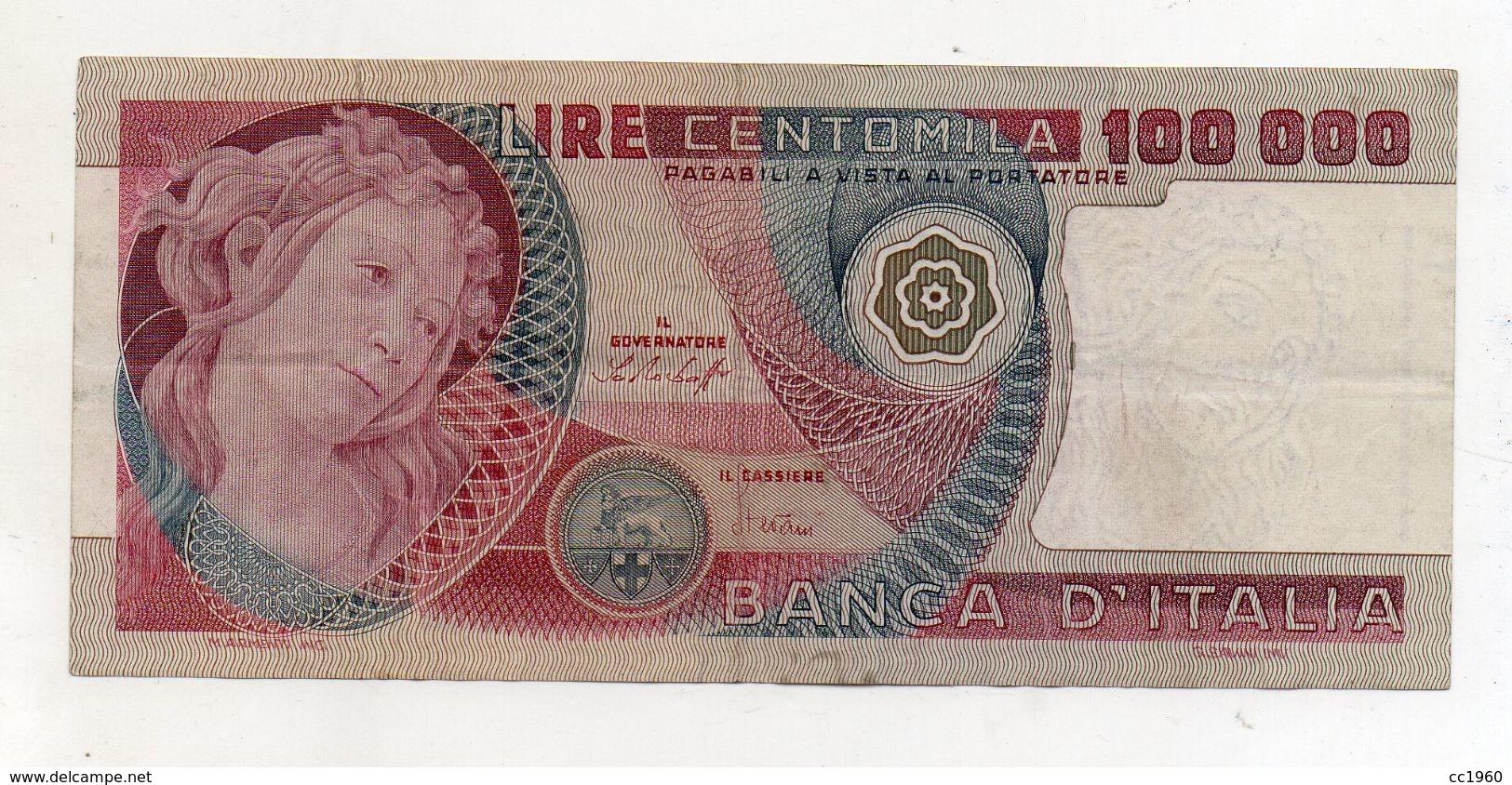 """Italia - Banconota Da Lire 100.000 """" Botticelli """" - Decreto 20.06.1978 - (FDC8126) - [ 2] 1946-… : République"""
