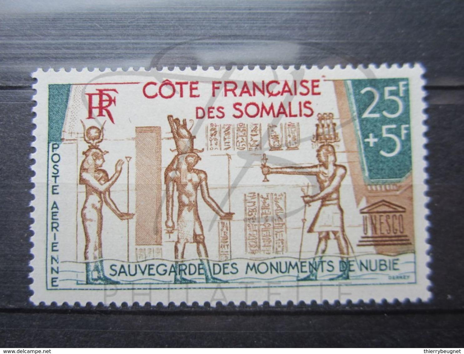 VEND BEAU TIMBRE DE POSTE AERIENNE DE LA COTE FRANCAISE DES SOMALIS N° 37 , X !!! - Neufs
