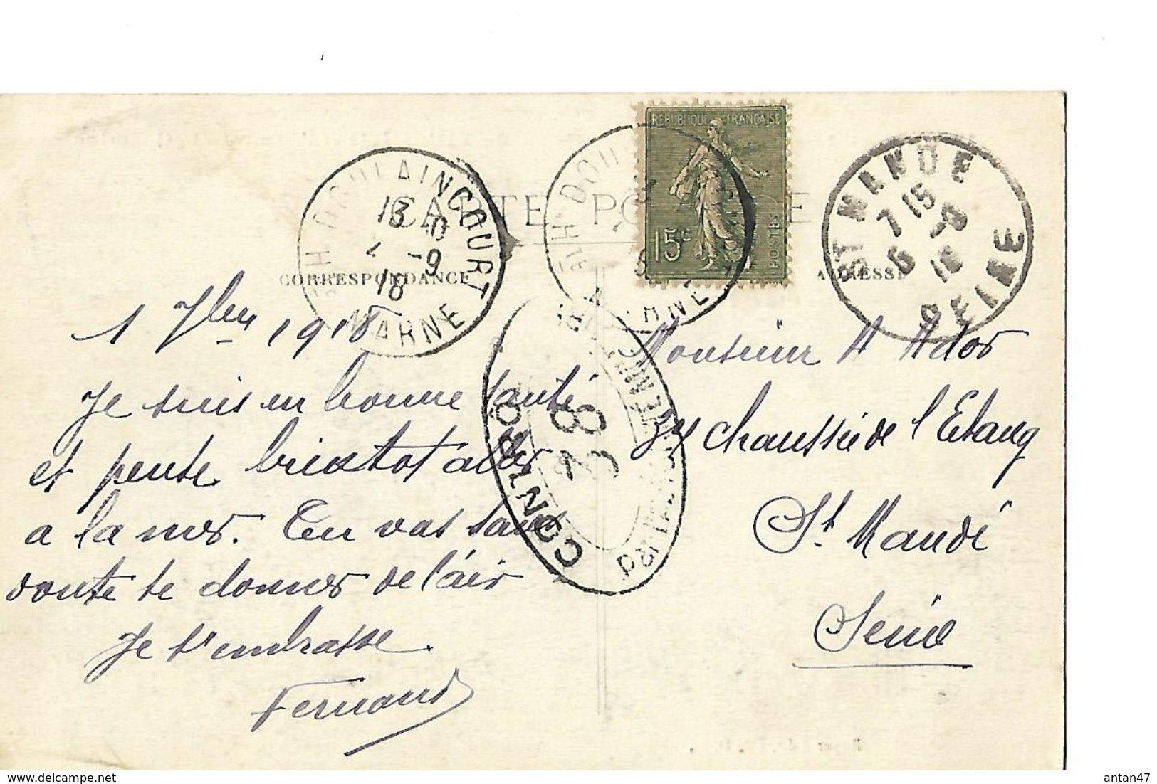 CPA / 52 HAUTE MARNE / VAUX-sur-St_URBAIN / Eglise / Orme De La Quemine En 1918 - Autres Communes