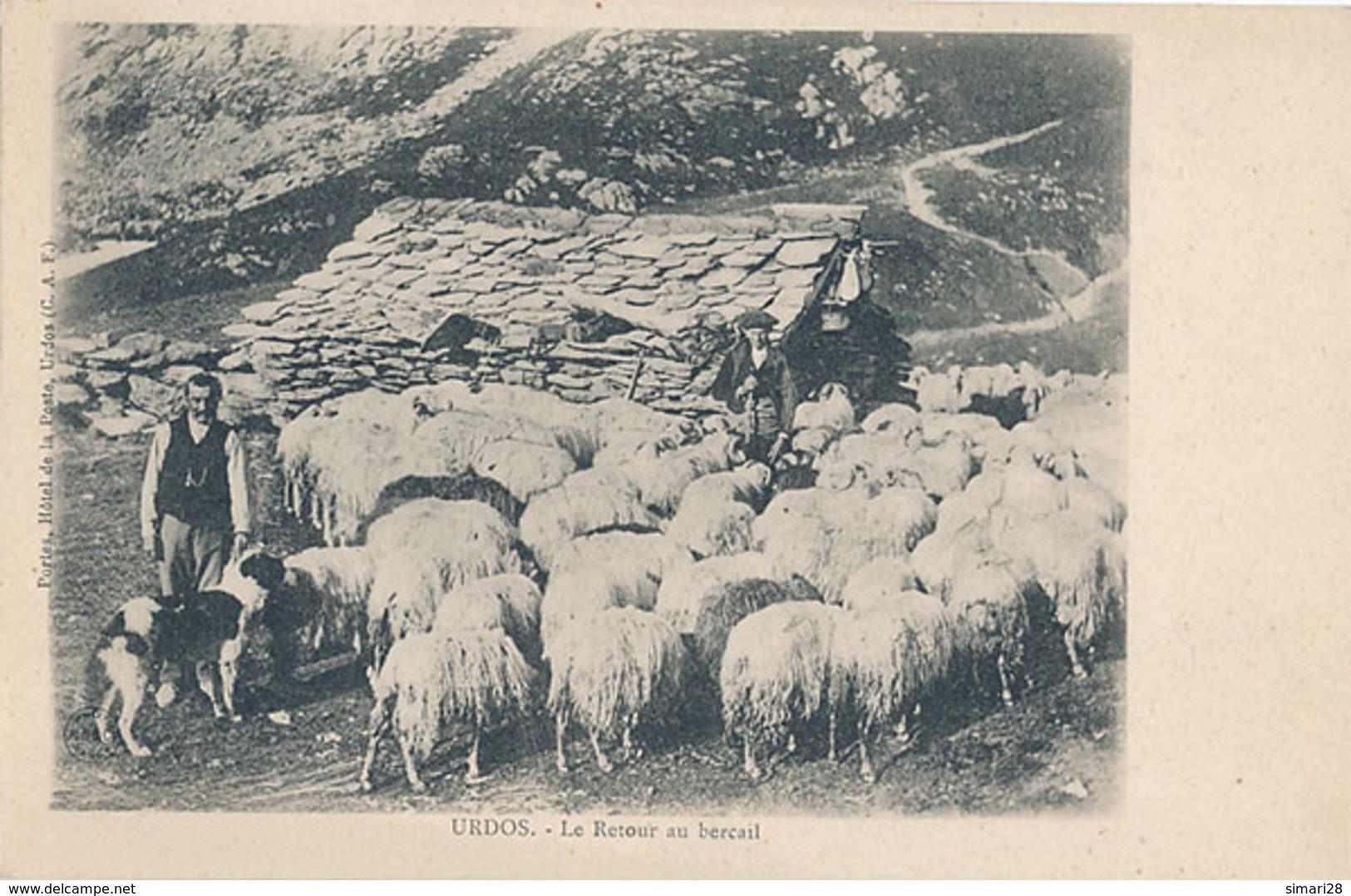 URDOS - LE RETOUR AU BERCAIL (MOUTONS AVE BERGER) - Autres Communes
