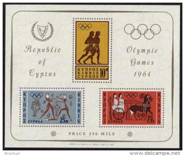 Greek Cyprus, 1964, Olympic Summer Games Tokyo, Sports, MNH, Michel Block 2 - Sonstige - Europa