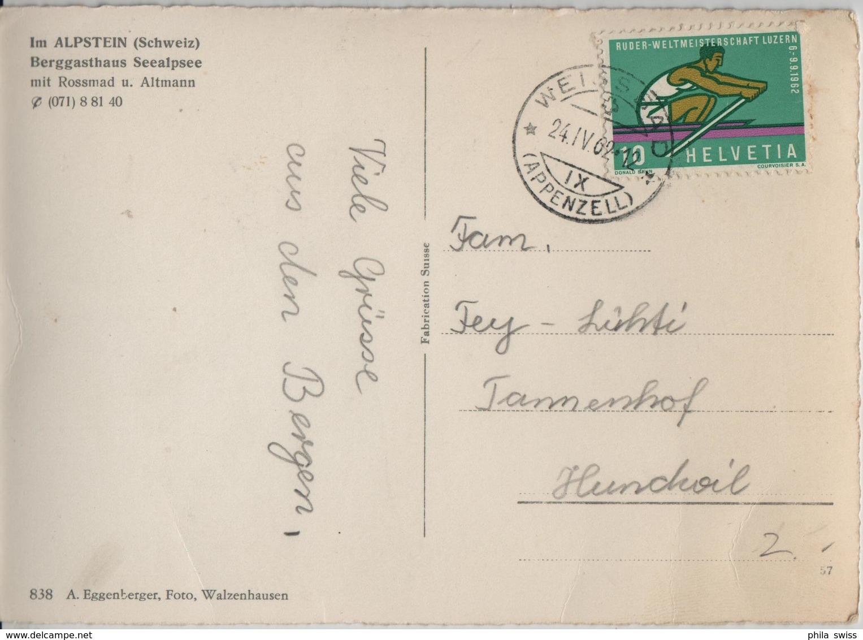 Im Alpstein Berggasthaus Seealpsee Mit Rossmad U. Altmann - Kinder Mit Ziegen Chevres - Photo: A. Eggenberger - AR Appenzell Rhodes-Extérieures