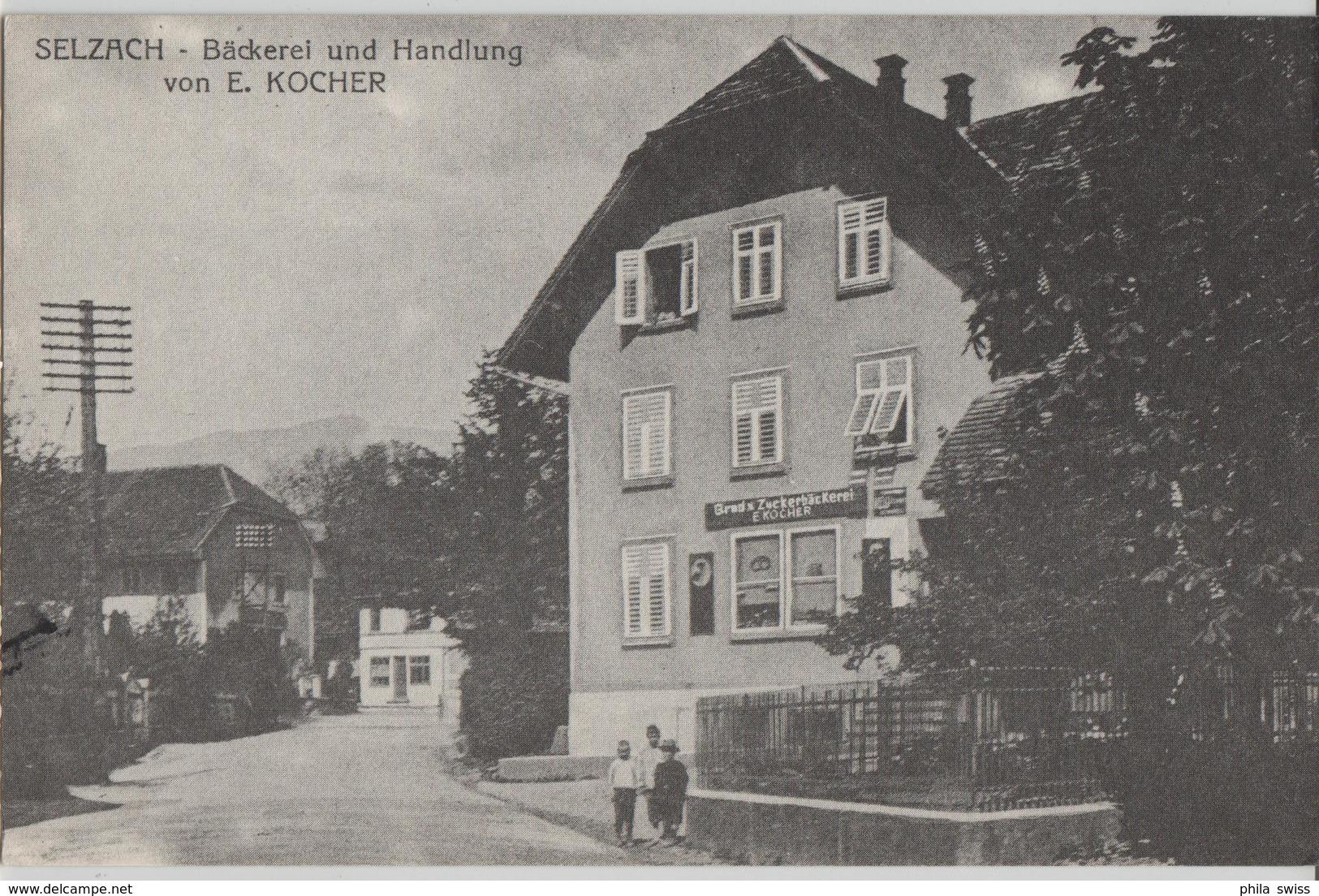 Selzach - Bäckerei Und Handlung Von E. Kocher - SO Soleure