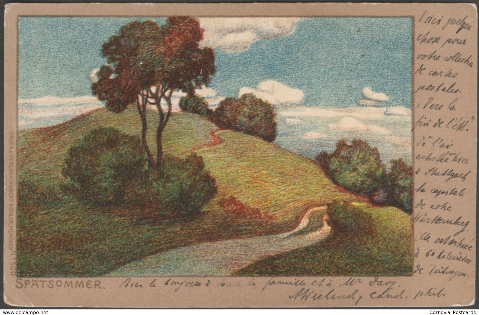 Art Nouveau - Spätsommer, 1905 - Hubert Köhler U/B AK - Künstlerkarten