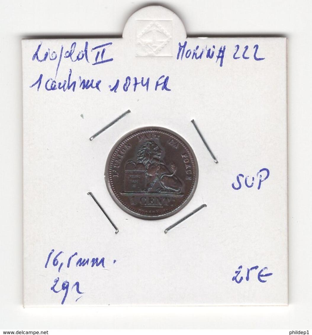 Belgique. Léopold II °. 1 Cent 1874. Morin # 222. SUP - 1865-1909: Leopold II