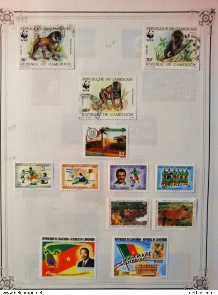 CARTON COLONIES FRANCAISES AVANT INDEPENDANCE AVEC TIMBRES SUR FEUILLES - Collections