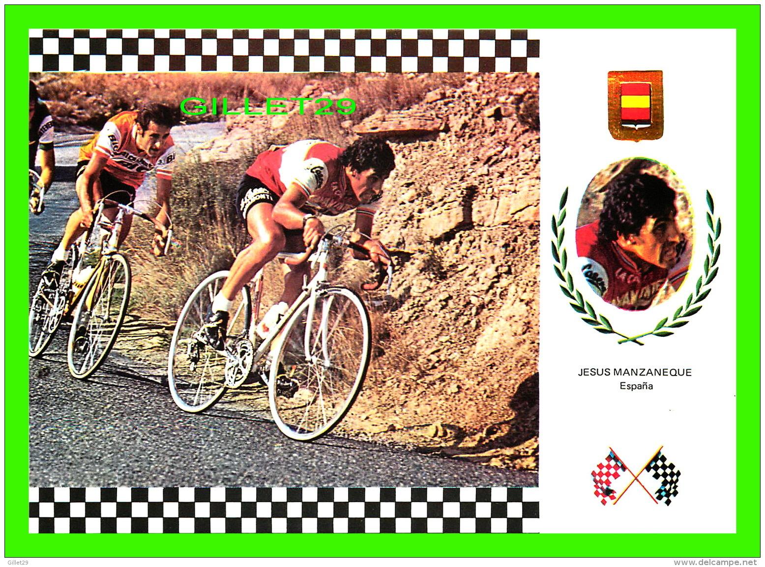 SPORTS CYCLISME - JESUS MANZANEQUE, ESPANA -  SERIE CICLISMO No 13 - - Cyclisme