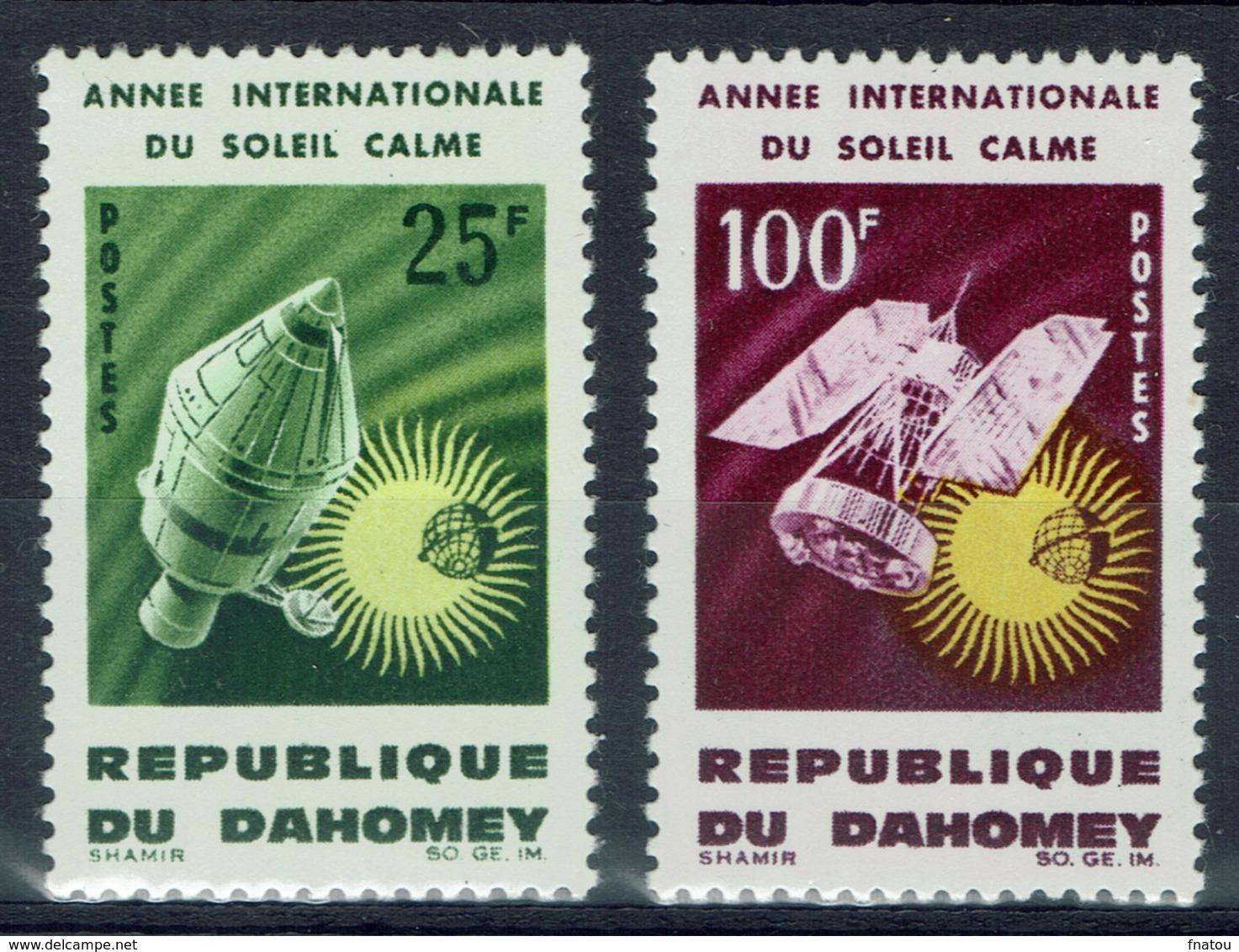 Dahomey (Benin), Year Of The Quiet Sun 1964, MNH VF  A Pair - Benin - Dahomey (1960-...)