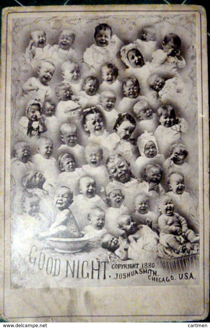 MOSAIQUE PHOTO MONTAGE PLUS DE 30 BEBES PLEUREURS ET HURLEURS 1880 - Fotos