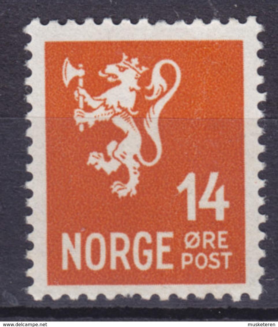 Norway 1941 Mi. 222    14 Ø Wappenlöwe MNH** - Norwegen